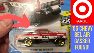 hot wheels 55 chevy bel air gasser found at target